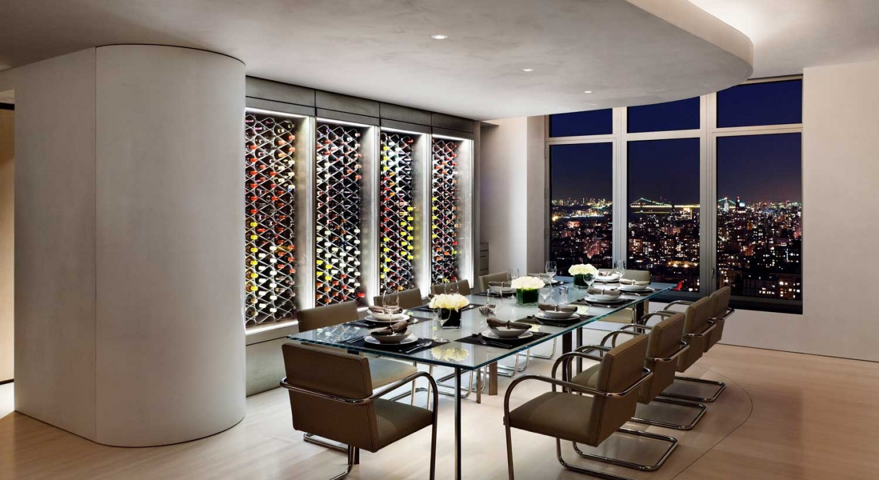 Echelon Wine Rack in New York Penthouse
