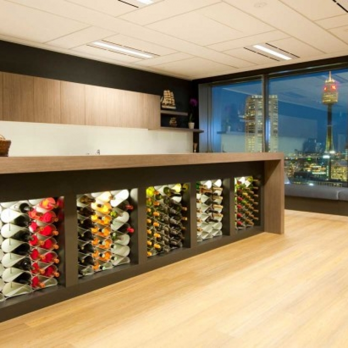 Modern wine racks in bespoke joinery
