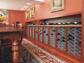 Wine Cellar racks in basement