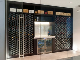 Wine Racks in climate controlled cellar