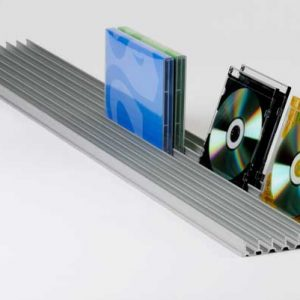 DVD rack storage with CD cases