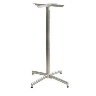 Bar height table base eliminates wobble