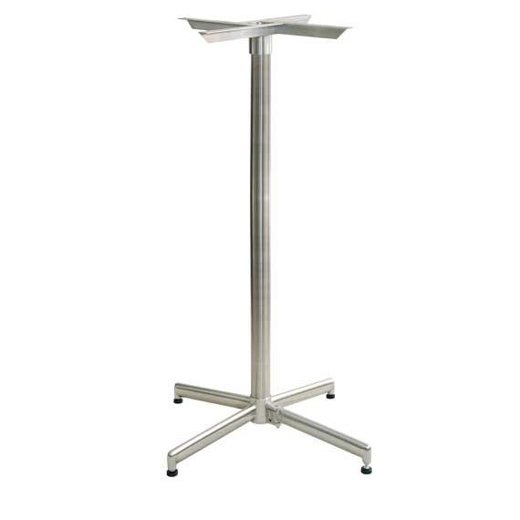 Bar height table base eliminates wobble