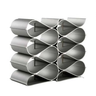 aluminium stackable wine rack for modern homes