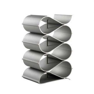 modern metal wave wine rack