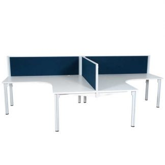 workstation desks corner pod of 2
