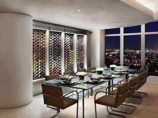 Echelon Wine Rack in New York Penthouse