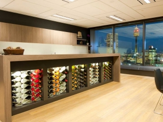 Modern wine racks in bespoke joinery