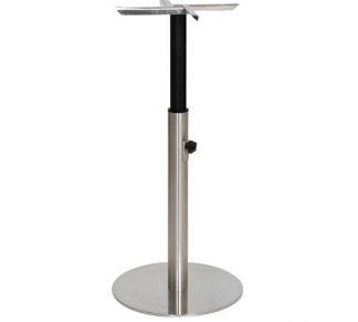 Table Base Height Adjustable - stainless steel