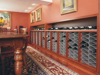 Wine Cellar racks in basement