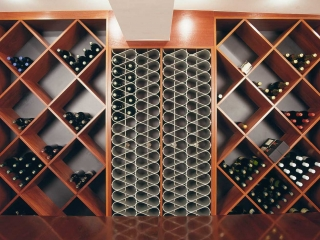 Wine racks contemporary and traditional combined
