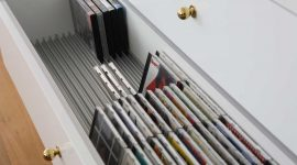 CD and DVD racks in drawer