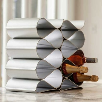 Echelon Wave Wine Rack 12 Bottle Kit