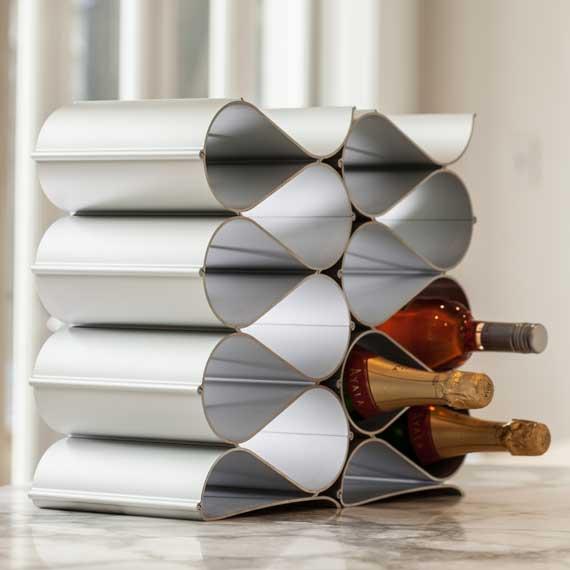 Echelon Wave Wine Rack 12 Bottle Kit
