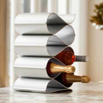 wave wine racks metal 6 bottle display