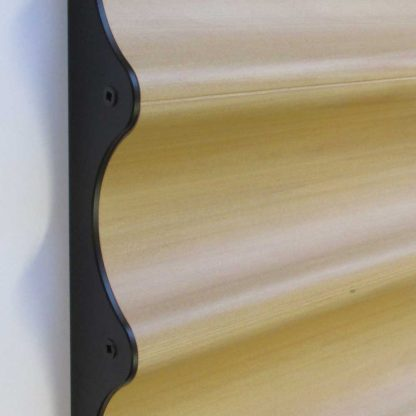 Wine rack beech and black anodised