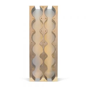 brass wine rack cabinet insert
