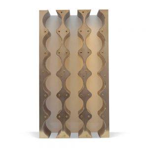 brass bottle rack cupboard insert
