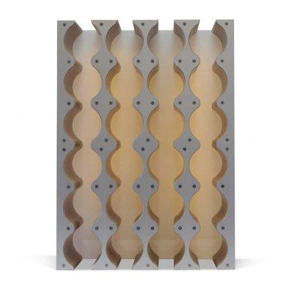backlit wine rack insert for kitchen