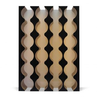black wine rack cabinet insert