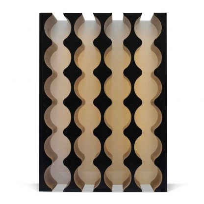 black wine rack cabinet insert