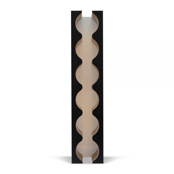 black wine rack backlit