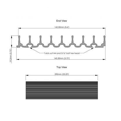 CD rack storage solution dimension sheet